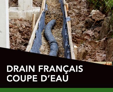 Drain français coupe d'eau